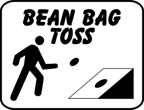 Toss clipart black and white vector free download Bean bag toss sign | Public domain vectors vector free download