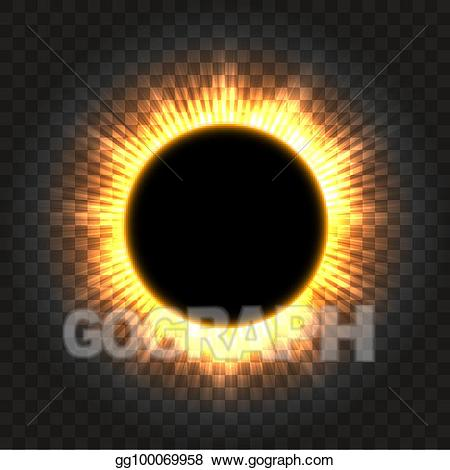 Total eclipse clipart clipart library download EPS Illustration - Total solar eclipse icon on transparent ... clipart library download