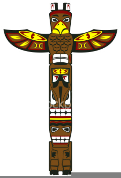 Totem clipart image black and white library Clipart Totem Indien | Free Images at Clker.com - vector ... image black and white library
