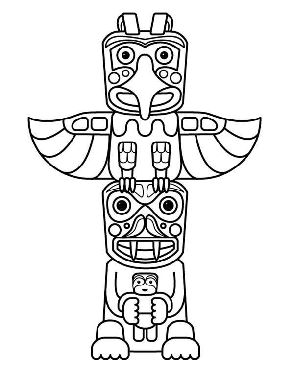 Totem clipart image library Totem Pole clipart aboriginal #4 | indian | Native american ... image library