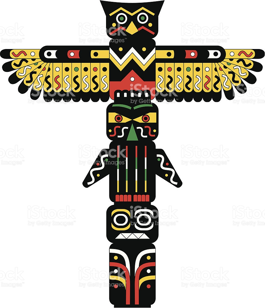 Totem clipart picture black and white download Totem pole clipart 4 » Clipart Station picture black and white download