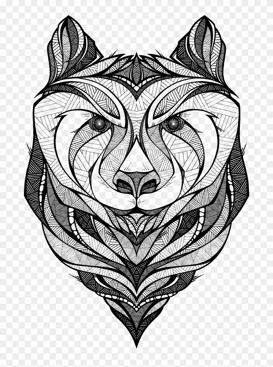 Totem pole clipart black and white lion jpg Totem Pole Clipart Drawing - Landyachtz - Png Download ... jpg