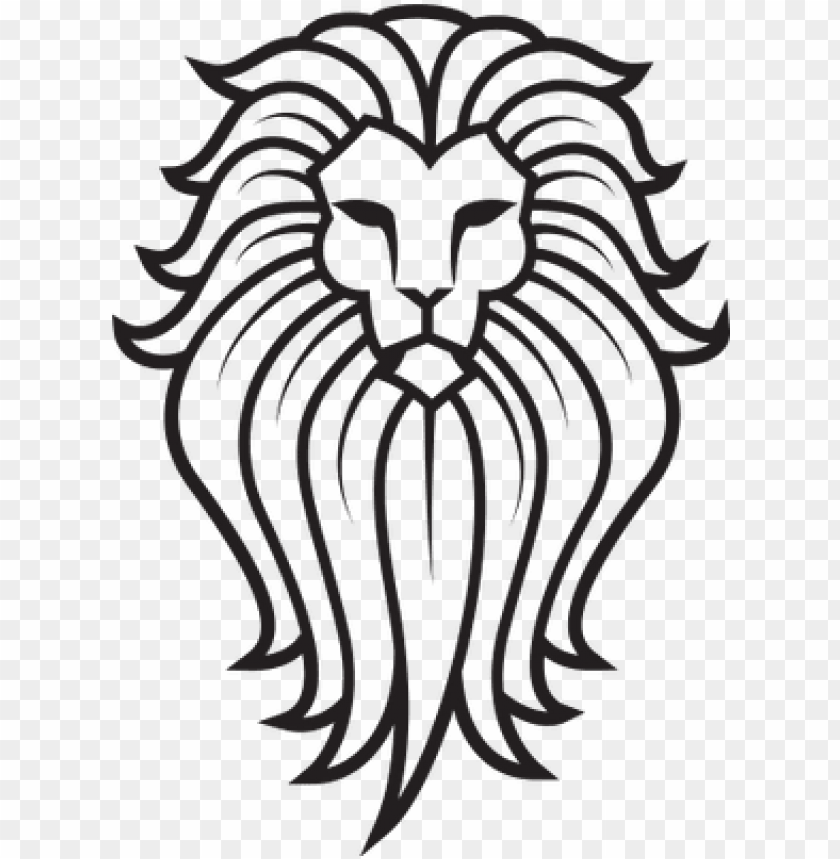 Totem pole clipart black and white lion image free download large lion face tattoo - lion on a totem pole PNG image with ... image free download