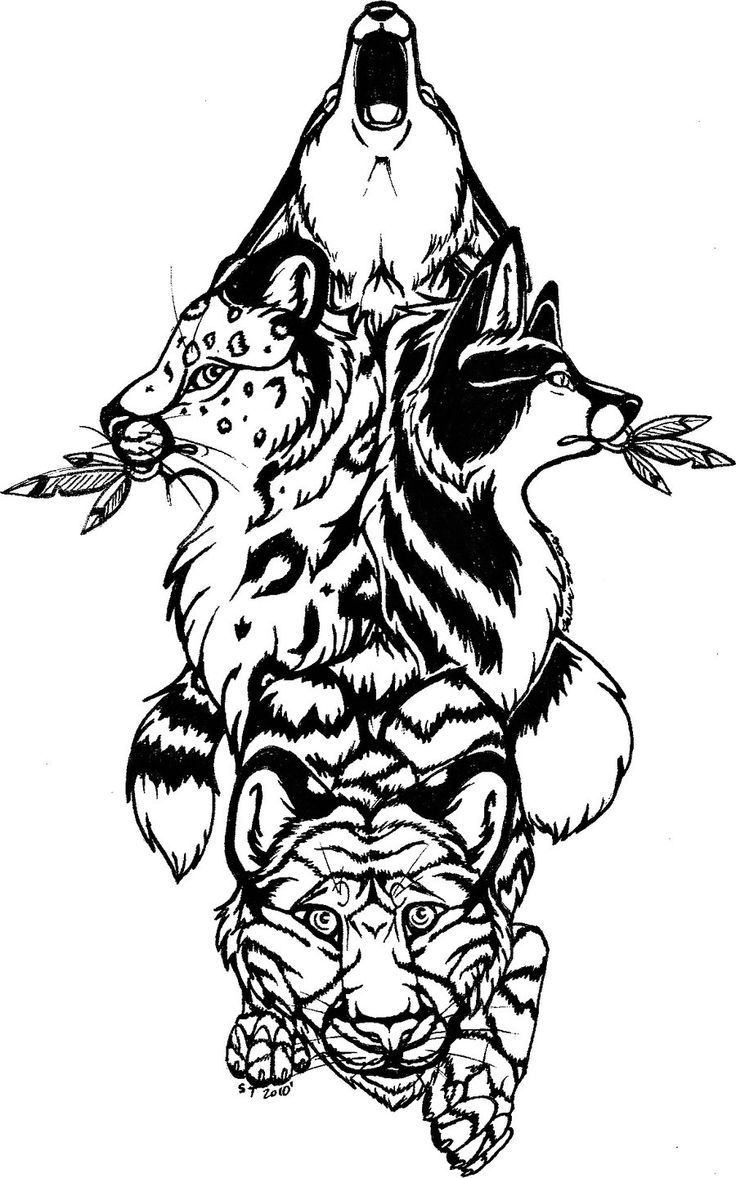 Totem pole clipart black and white lion graphic royalty free download drawings of lion, dragonfly, and wolf totem - Google Search ... graphic royalty free download