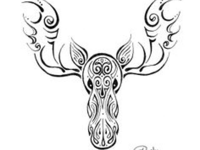 Totem pole clipart black and white moose freeuse download Free Drawn Moose, Download Free Clip Art on Owips.com freeuse download