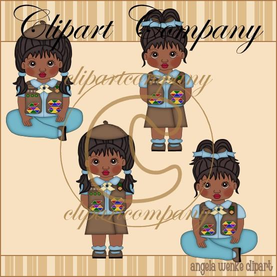 Totler e girl clipart clipart black and white Girl Scout Clip Art : Zen Cart!, The Art of E-commerce clipart black and white