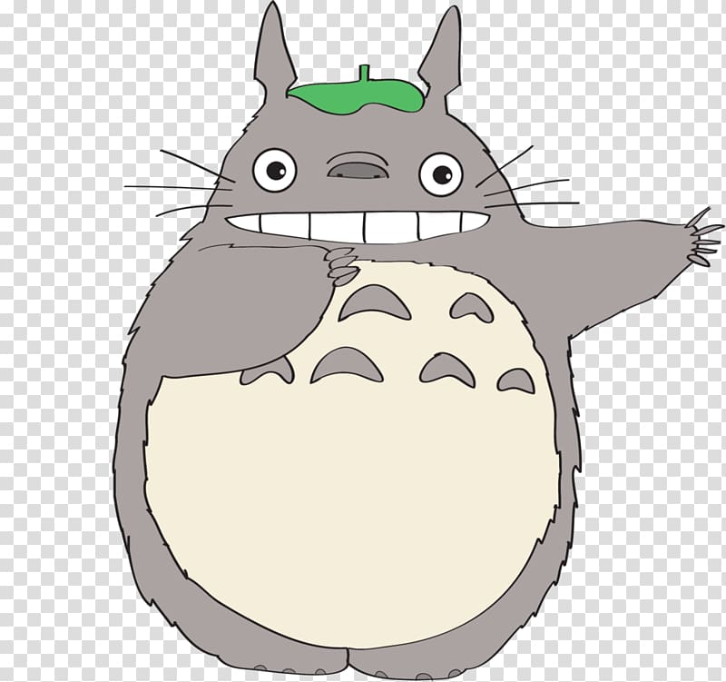 Totoro clipart free png library library Totoro raising hands illustration, Studio Ghibli Drawing ... png library library