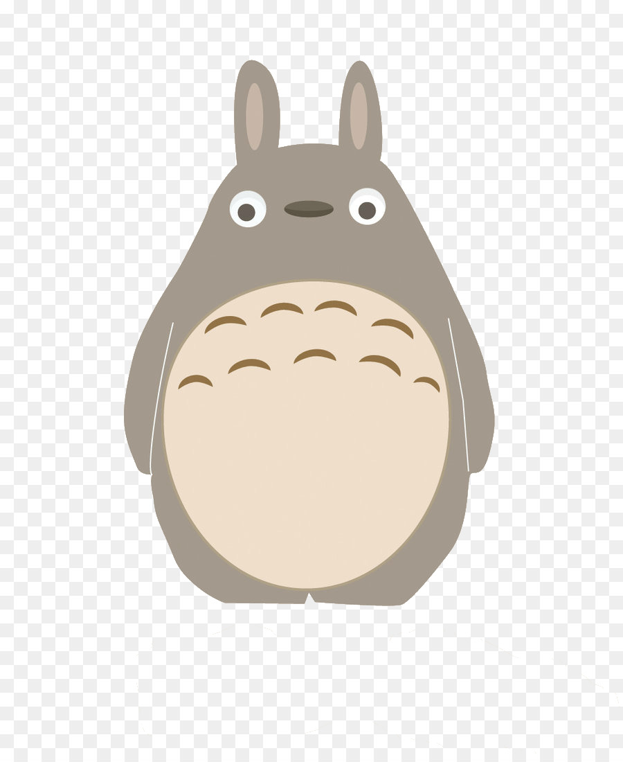 Totoro clipart free png black and white download Rabbit Cartoon png download - 900*1088 - Free Transparent ... png black and white download