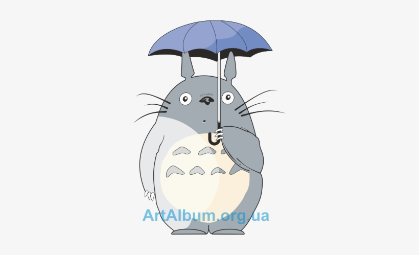 Totoro clipart silhouette banner freeuse library Totoro Umbrella Png - Totoro With Umbrella Silhouette - Free ... banner freeuse library