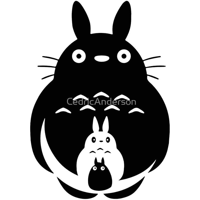 Totoro clipart silhouette clip royalty free stock Totoro by Cedric Anderson | silhouettes | Totoro, Silhouette ... clip royalty free stock