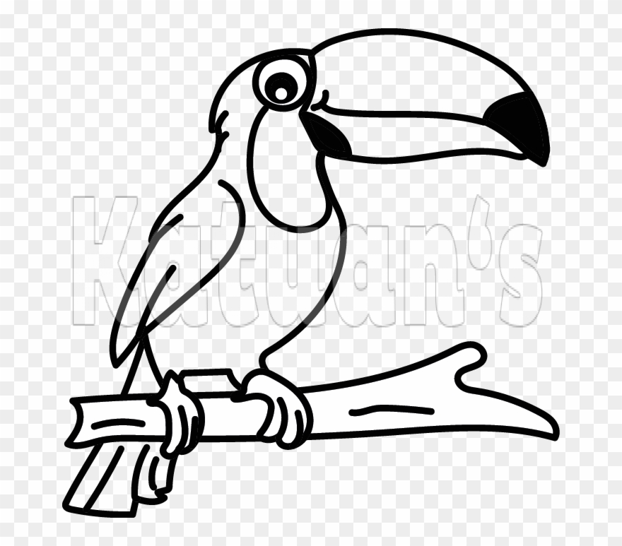 Toucan clipart black and white vector freeuse stock Toucan Clipart (#2899167) - PinClipart vector freeuse stock