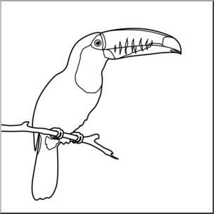 Toucan clipart black and white clip freeuse stock Clip Art: Toucan B&W I abcteach.com | abcteach clip freeuse stock
