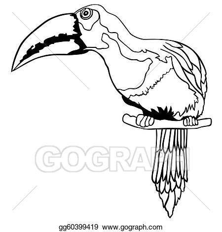 Toucan clipart black and white svg stock EPS Vector - Toucan. Stock Clipart Illustration gg60399419 ... svg stock