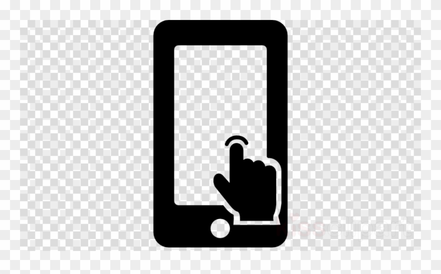 Touch clipart black and white vector royalty free library Touch Screen Phone Icon Clipart Touchscreen Mobile - Black ... vector royalty free library