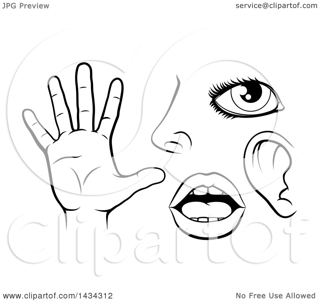 Touch finger to head clipart black and white svg freeuse library Touch Head Clipart svg freeuse library