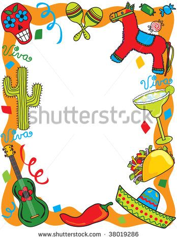 Mexican fiesta border clipart graphic download Mexican Border Clip Art | Mexican Fiesta frame, great for ... graphic download