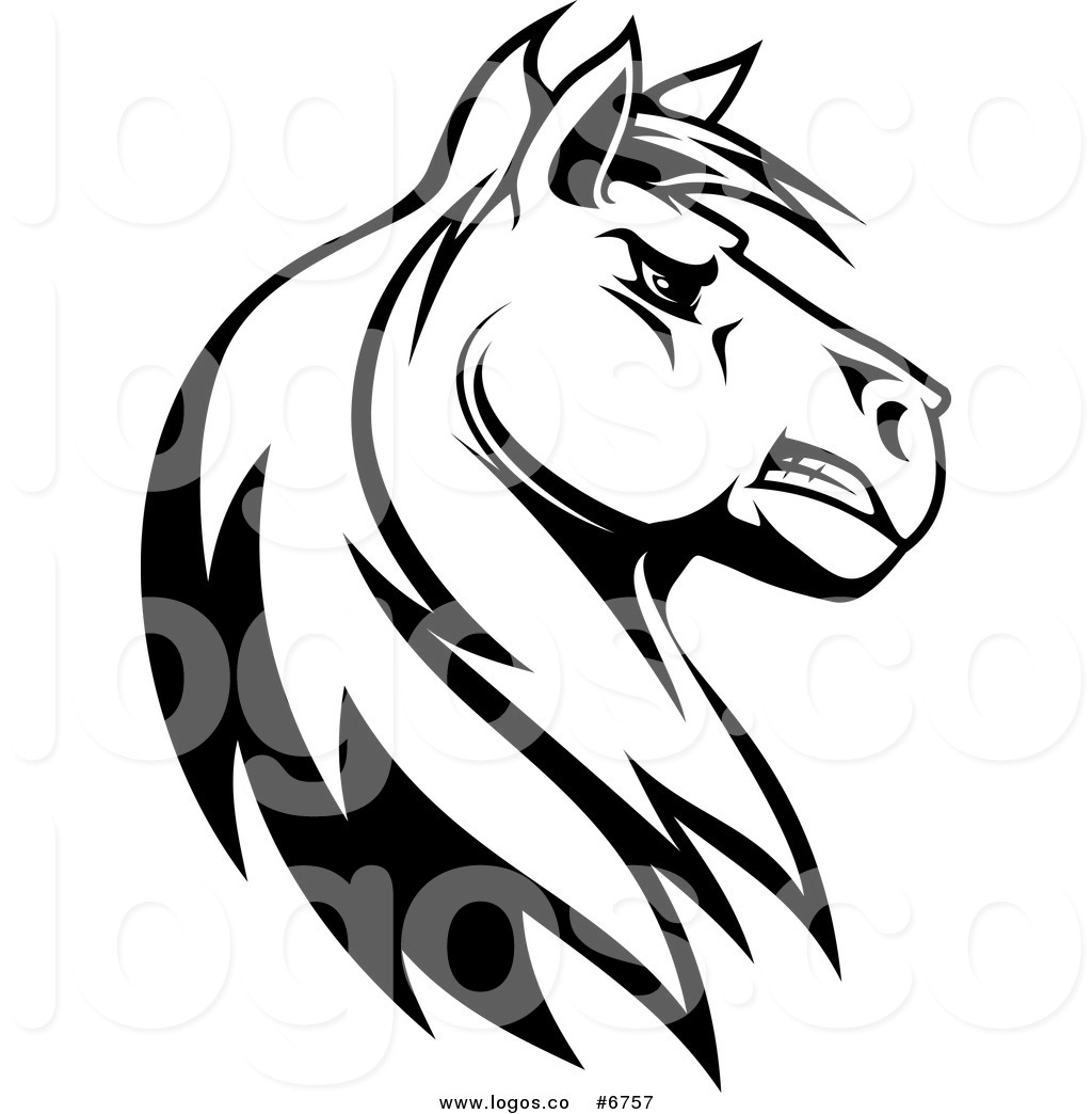 Tough clipart black and white picture library library Royalty Free Clip Art Vector Logo of a Black and White Tough ... picture library library