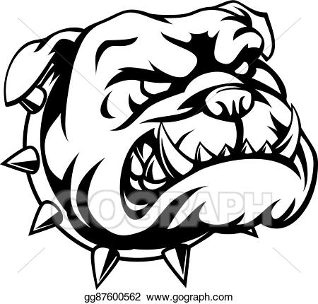 Tough clipart black and white graphic black and white library Vector Stock - Tough bulldog. Clipart Illustration ... graphic black and white library