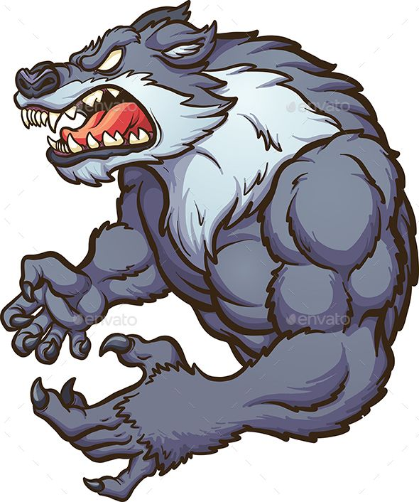 Tough guy rat clipart graphic library download Angry strong wolf mascot. Vector clip art illustrations with ... graphic library download