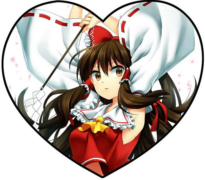 Touhou reimu clipart clip library US $13.91 13% OFF|Touhou Project Anime Reimu Single Sided Pattern Fabric  Heart Pillow #36110-in Decorative Pillows from Home & Garden on ... clip library