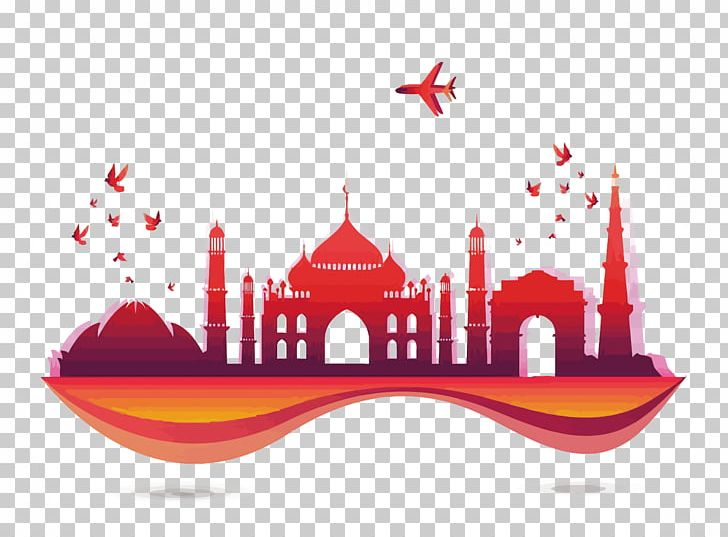 Tourism in india clipart png transparent library India Tourism Euclidean Skyline PNG, Clipart, Aircraft, Bird ... png transparent library