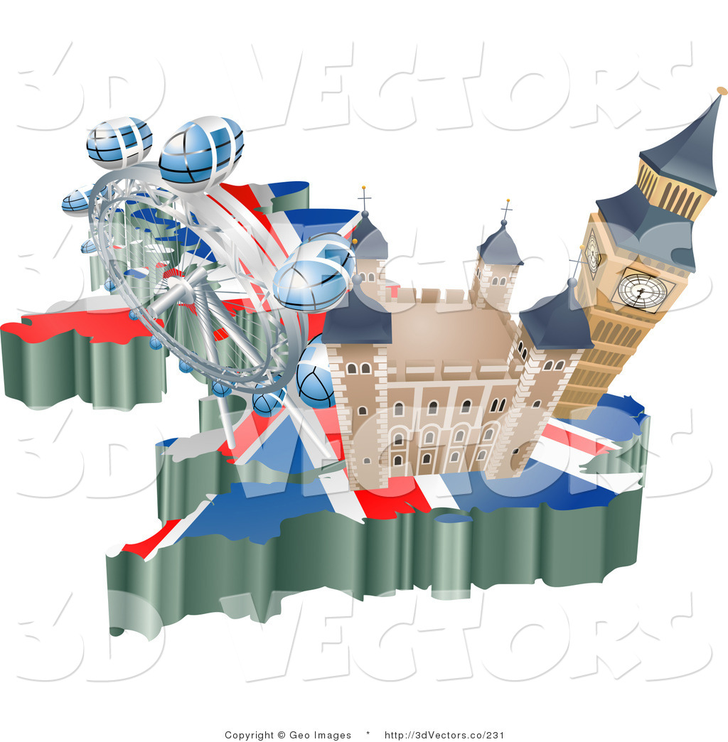 Tourist attraction clipart clipart black and white 3d Vector Clipart of Tourist Attractions in the United ... clipart black and white