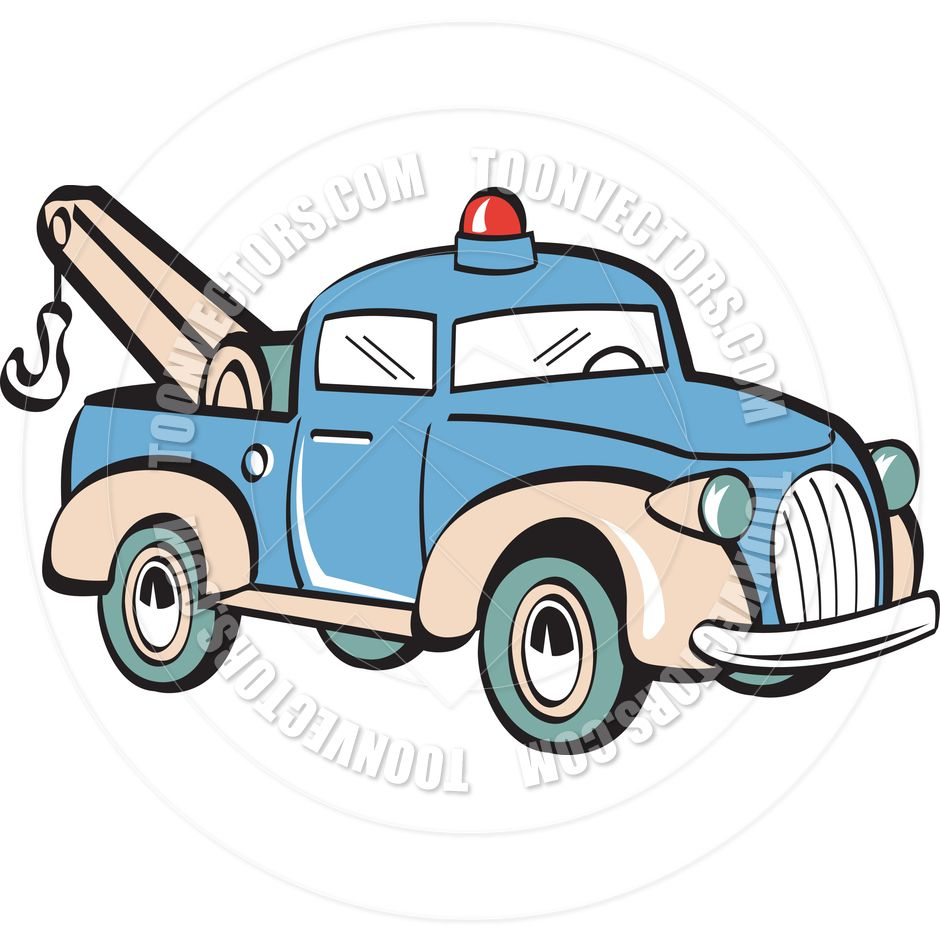 Vintage wrecker clipart jpg transparent stock tow truck clip art | Cartoon Tow Truck Vector Illustration ... jpg transparent stock
