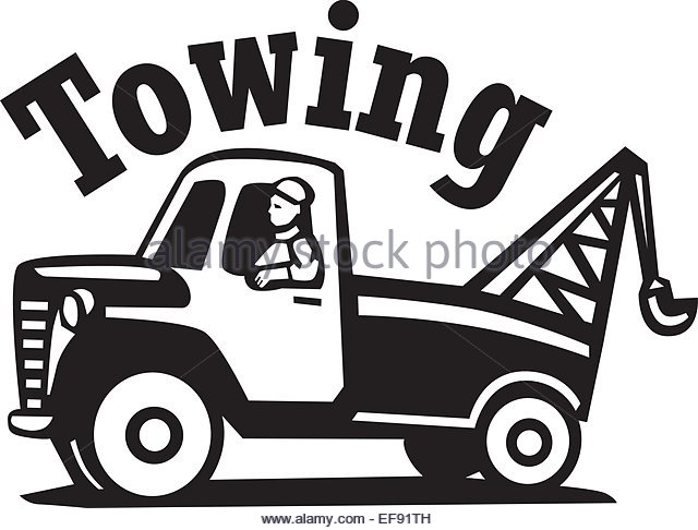 Tow truck towing car clipart black and white svg freeuse download Cartoon Tow Truck Pictures | Free download best Cartoon Tow ... svg freeuse download