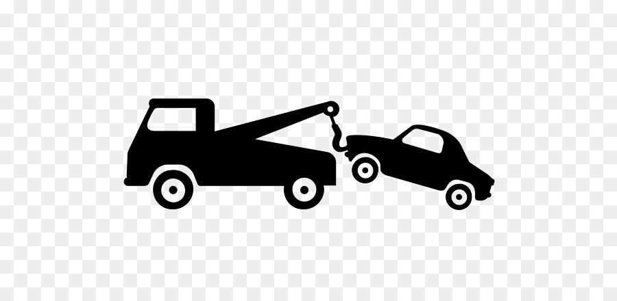 Tow truck towing car clipart black and white clip stock Car Pickup truck Vehicle Flatbed truck - car png download ... clip stock