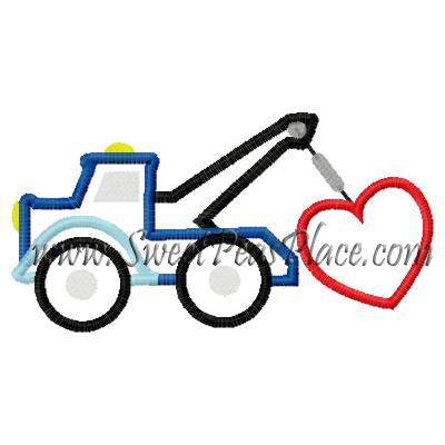 Tow truck with heart clipart picture transparent stock Valentine Designs, Valentine Truck with Heart Applique ... picture transparent stock
