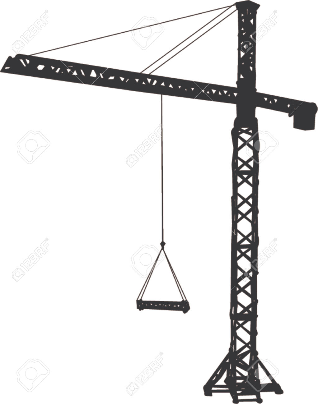 Tower crane overhead clipart clip freeuse download Crane clipart - ClipartBarn clip freeuse download