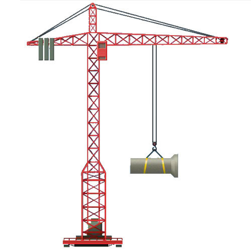 Tower crane overhead clipart picture stock Fixed Tower Crane picture stock