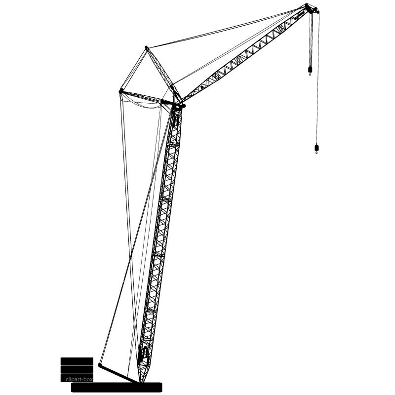 Tower crane overhead clipart clip art black and white stock Free Crane Cliparts, Download Free Clip Art, Free Clip Art ... clip art black and white stock