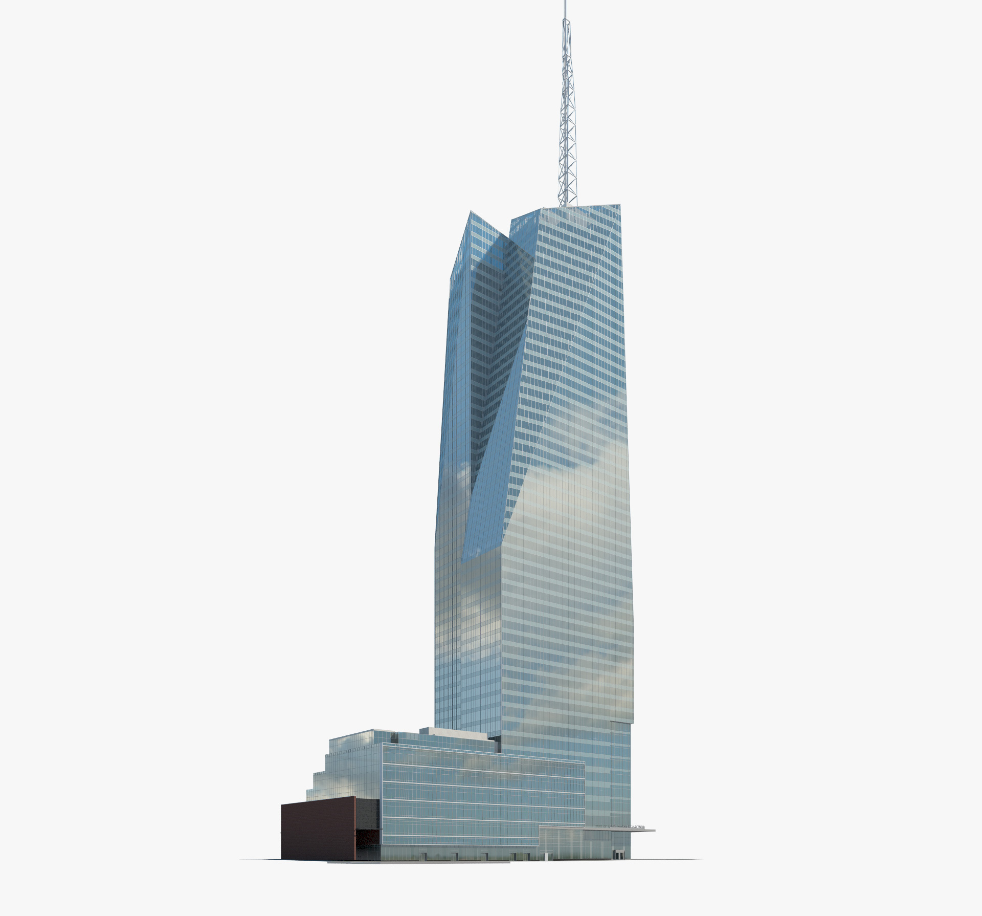 Tower of america clipart vector black and white Bank of America Tower (New York City) 3D model vector black and white