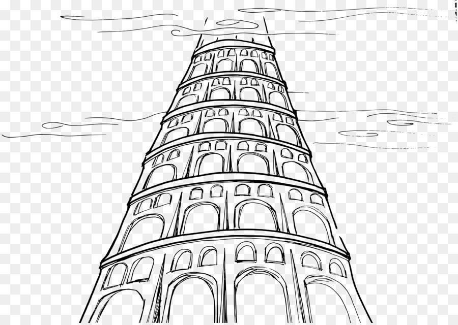 Tower of babel clipart clip freeuse Book Black And White png download - 2400*1697 - Free ... clip freeuse