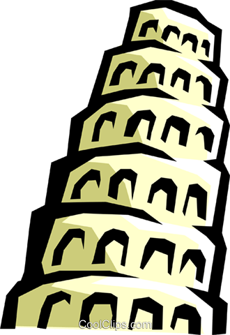 Tower of babel clipart clip art library Tower of Babel Royalty Free Vector Clip Art illustration ... clip art library