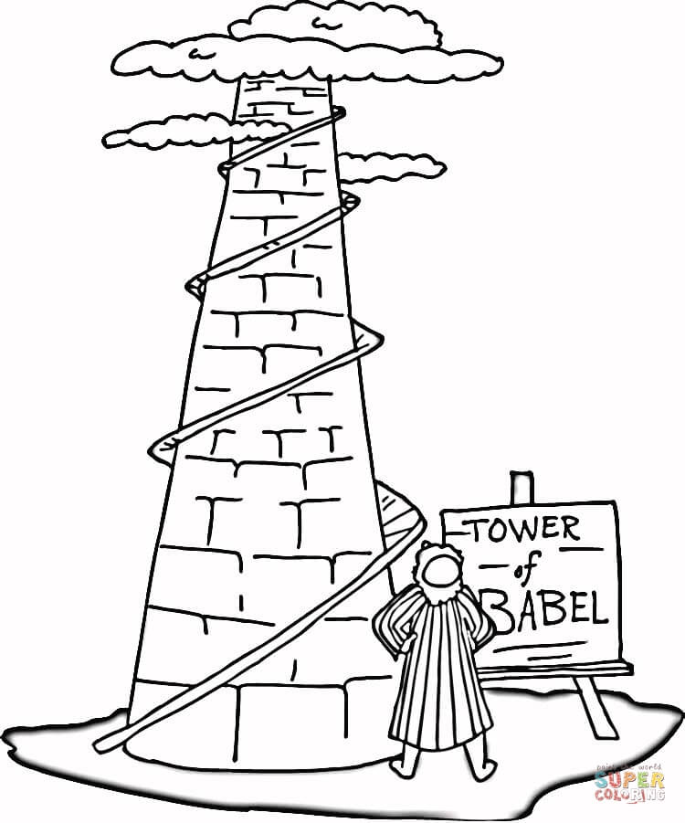 Tower of babel clipart image royalty free Free The Tower Of Babel Coloring Pages, Download Free Clip ... image royalty free