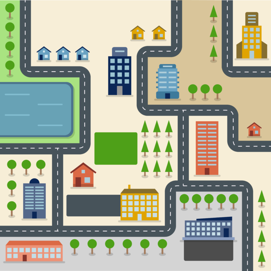 Townmap clipart vector library download City Background clipart - Map, Road, Games, transparent clip art vector library download