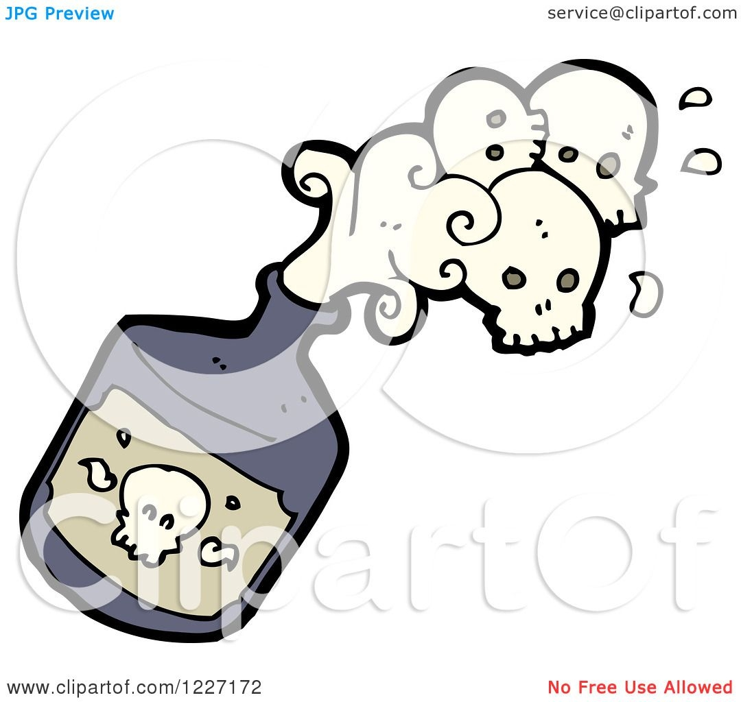 Toxic fumes images clipart svg black and white Bottle Of Poison Clipart svg black and white