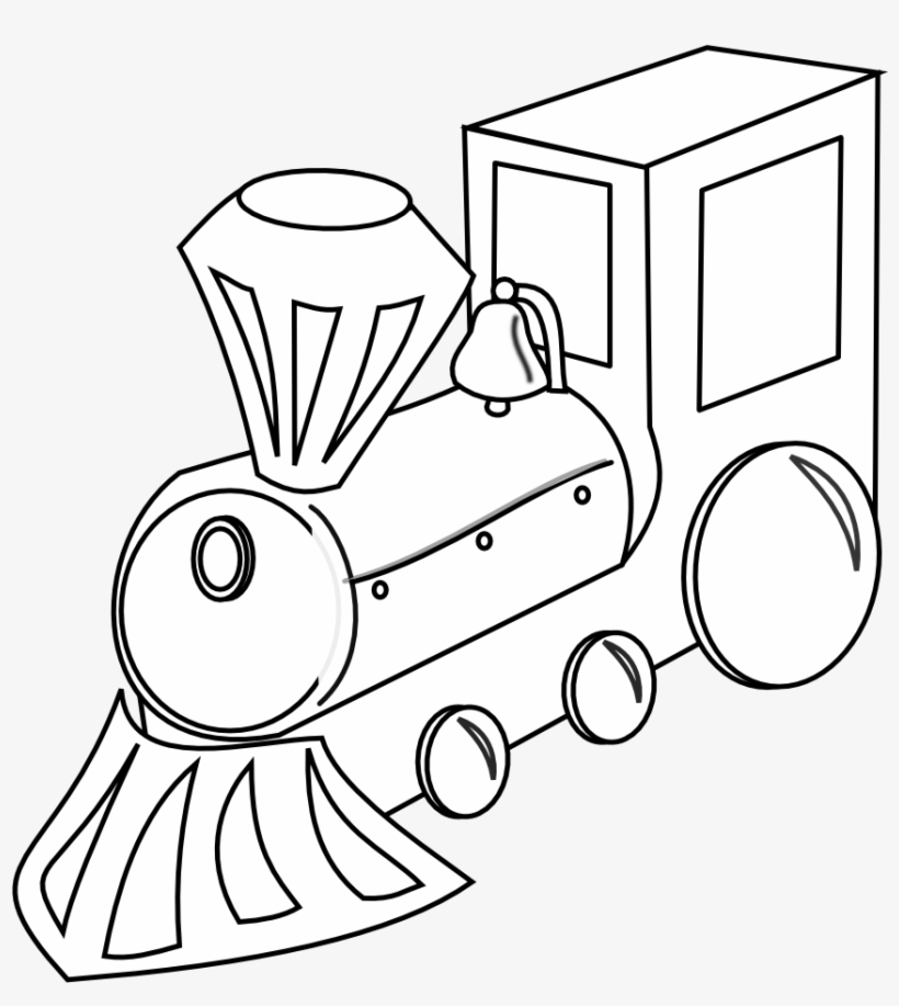 Toy black and white clipart clip art freeuse Vector Freeuse Toy Train Clipart Black And White - Black And ... clip art freeuse