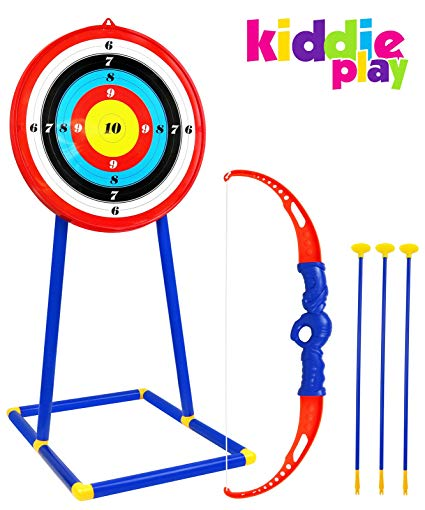 Toy bow and arrow clipart vector download Kiddie Play Toy Archery Set for Kids with Target Bow and Arrow Kids Toys  Age 5, 6, 7, 8, 9 Years Old Boys and Girls vector download