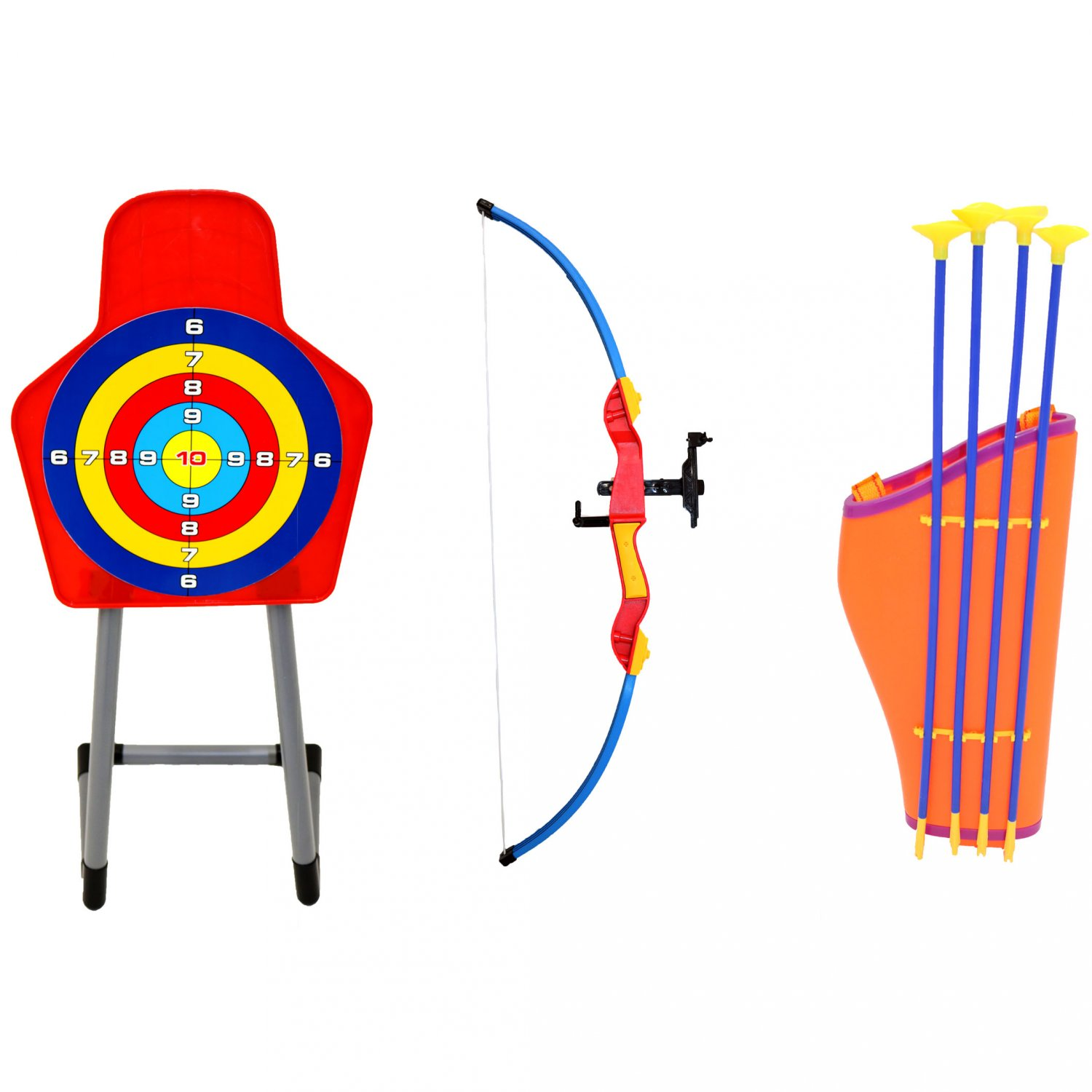 Toy bow and arrow clipart png stock Kids Toy Bow & Arrow Archery Target Set Outdoor Garden Game png stock