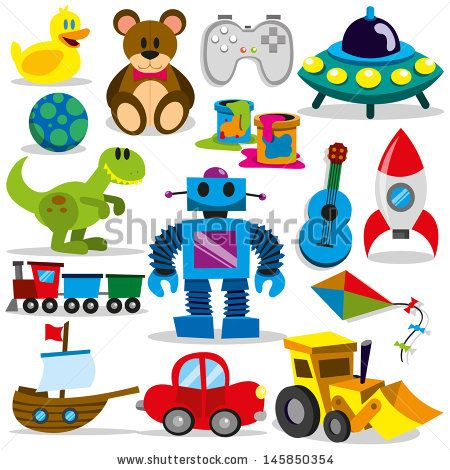 Toy clipart vector royalty free set of different cartoon vector toys - stock vector | clip ... royalty free