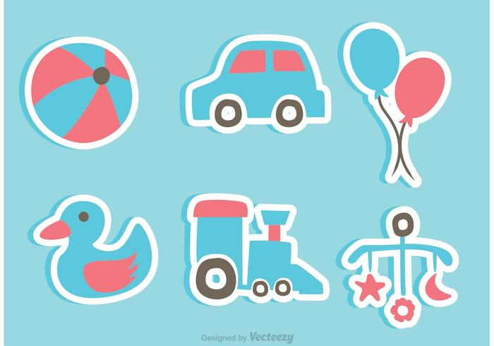 Toy clipart vector svg library Baby Toys Sticker Icons - Download Free Vectors, Clipart ... svg library