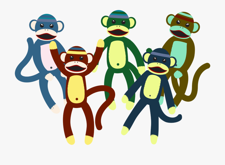 Toy clipart vector image royalty free download Cute Monkey Plush Toy Vector - Monkey #777701 - Free ... image royalty free download