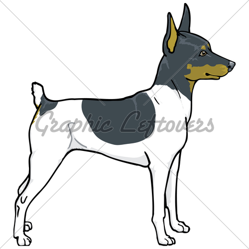Toy fox terrier clipart