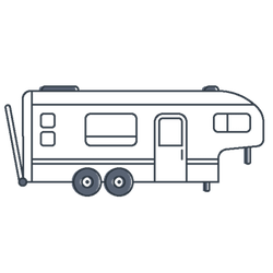 Toy hauler clipart graphic library library 5th Wheel Toy Hauler RV Covers | CoverQuest graphic library library