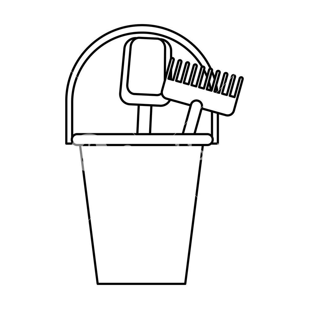 Toy rake clipart white background free library beach toys icon isolated bucket slove and rake drawing in ... free library