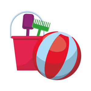Toy rake clipart white background clipart free library beach ball and toys bucket rake and shovel colorful in white ... clipart free library