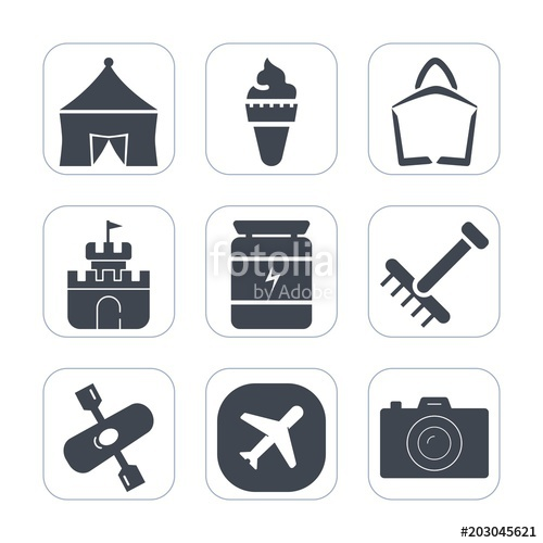 Toy rake clipart white background png royalty free library Premium fill icons set on white background . Such as vanilla ... png royalty free library